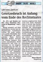 Leserbrief Hensel Volksstimme 9.7.2009, Volksstimme Lokalausgabe Magdeburg