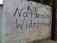 Schriftzug an der Hauptverkehrsstraße Alt Fermersleben.